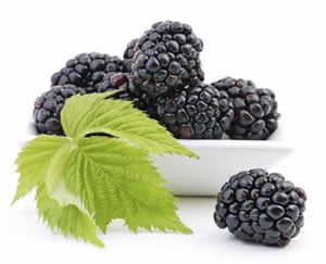 Enjoy blackberries as part of this healthy summer meal plan.