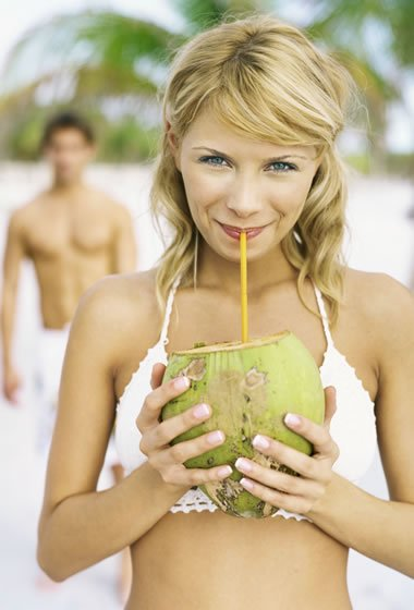 Pure, Unflavored Coconut Water is Healthy
