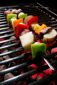 Grill fresh vegetables