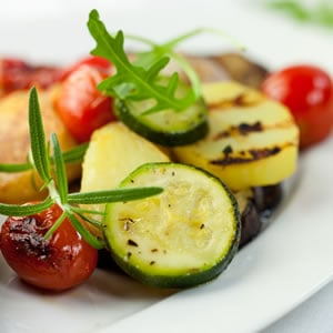 Use those healthy grilled vegetables from last night in this morning's breakfast meal plan..