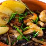 Recipe for Potato, Spinach & Wild Mushroom Ragout