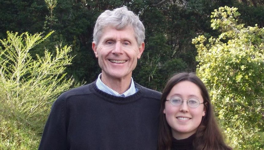 Benjamin Dale and his daughter, Sara, whom he is planning to bring to Pritikin next year.