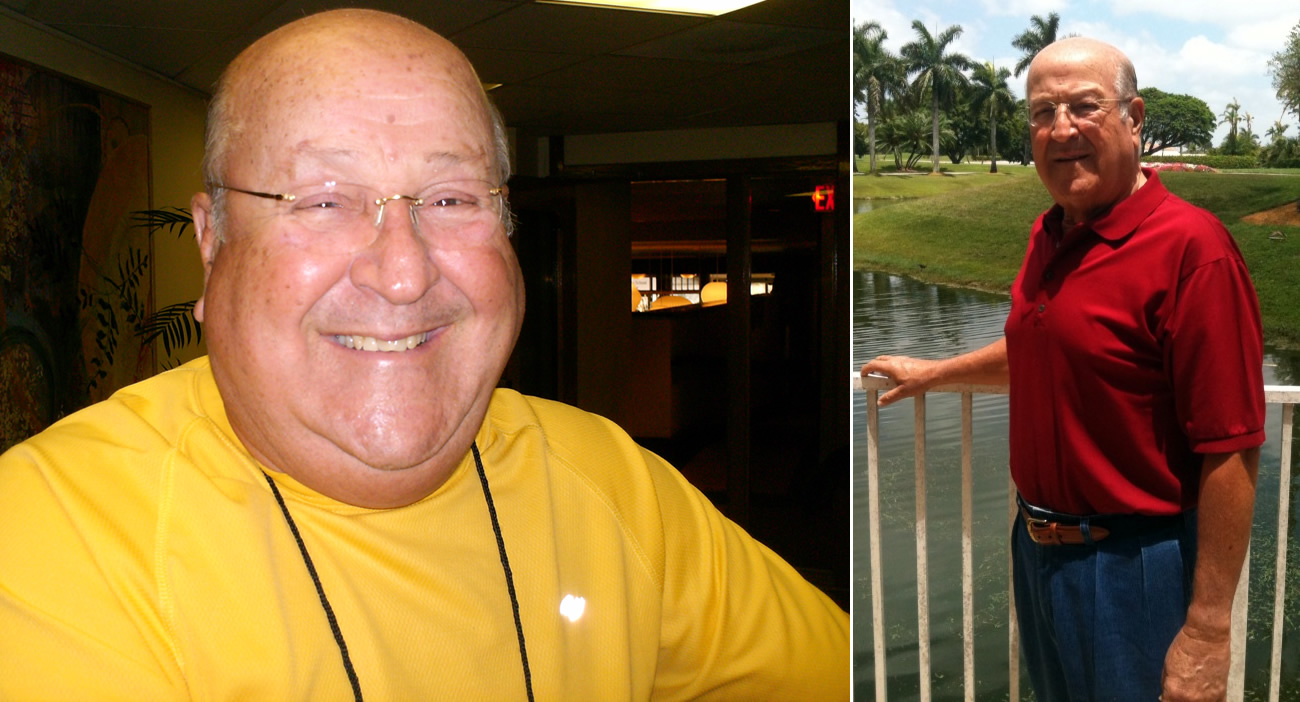 Mario Montalvo Before And After His Stay At The Pritikin Health Resort