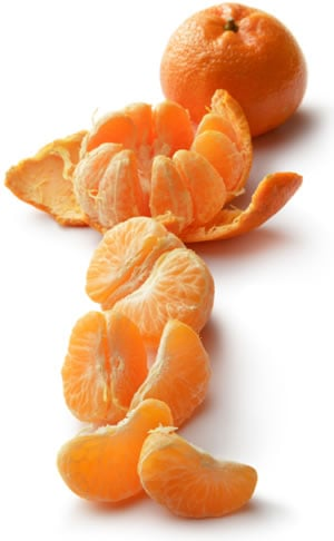 Oranges or tangerines make a great snack on a healthy meal plan.