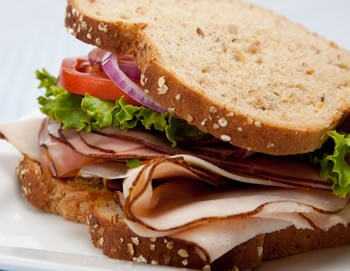 Lose weight while still enjoying favorites like this healthy turkey sandwich.