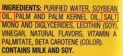 """I can't Believe It's Not Butter"" Ingredient List and Nutrition Facts"
