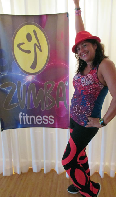 Maria Ojeda teaches Zumba for Beginners at the Pritikin Fitness Camp