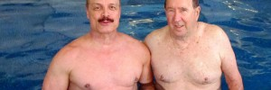 Ivan in Aqua Fitness and Weight Loss Class with Guest