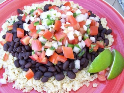 RUNNER UP: Best Meatless Dish Cilantro-Lime Infused Quinoa with Black Beans recipe