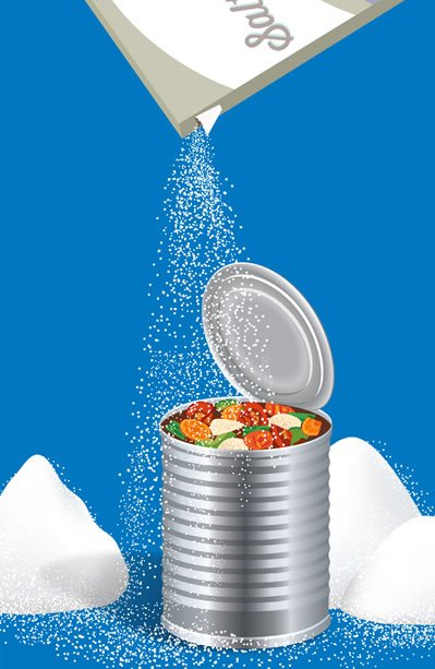 Beans are healthy. Salt is not.