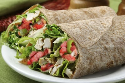 Enjoy a Tuna Wrap as a Weight Loss Lunch