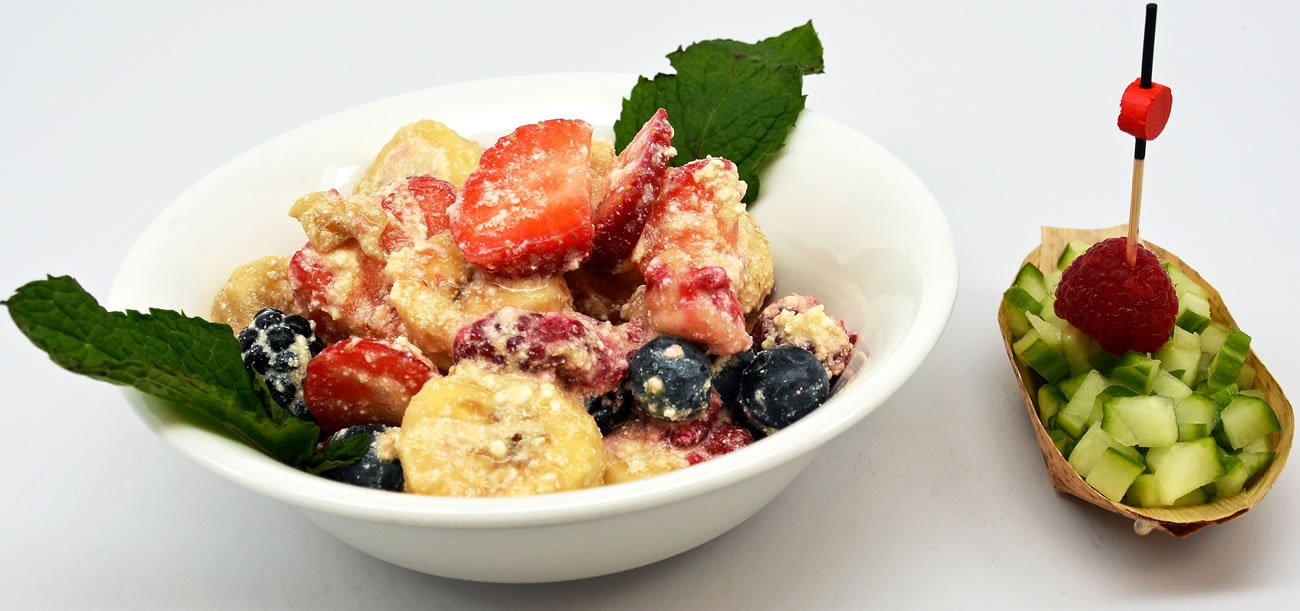 Sensational Banana Berries And Cottage Cheese Salad Download Free Architecture Designs Scobabritishbridgeorg