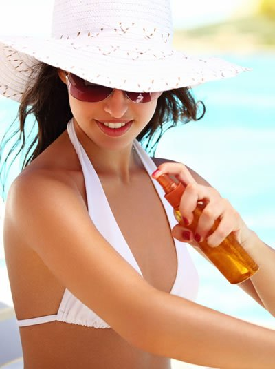 Sunscreen should be worn with a hat and sunglasses for the best protection.
