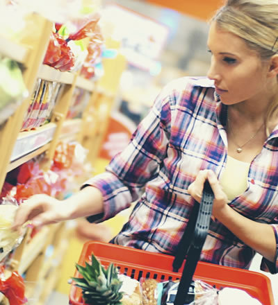 Processed Food Products at the Grocery Store