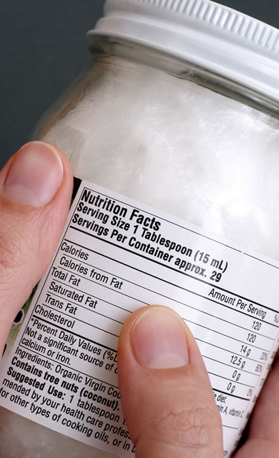 Nutrition Facts say Coconut Oil is Fattening