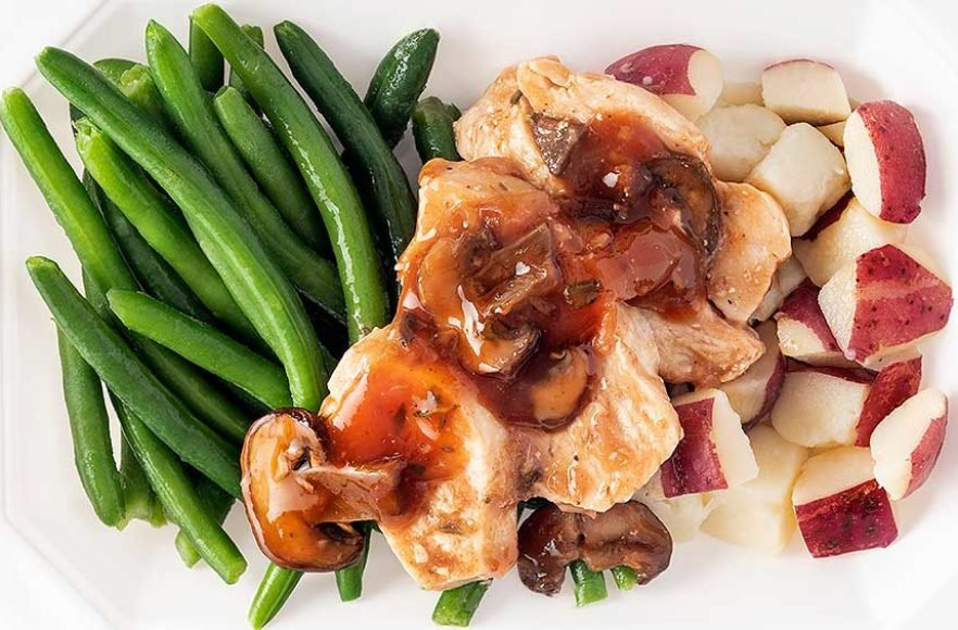 Chicken Marsala with Red Potatoes & Green Beans – Click Here for More Details
