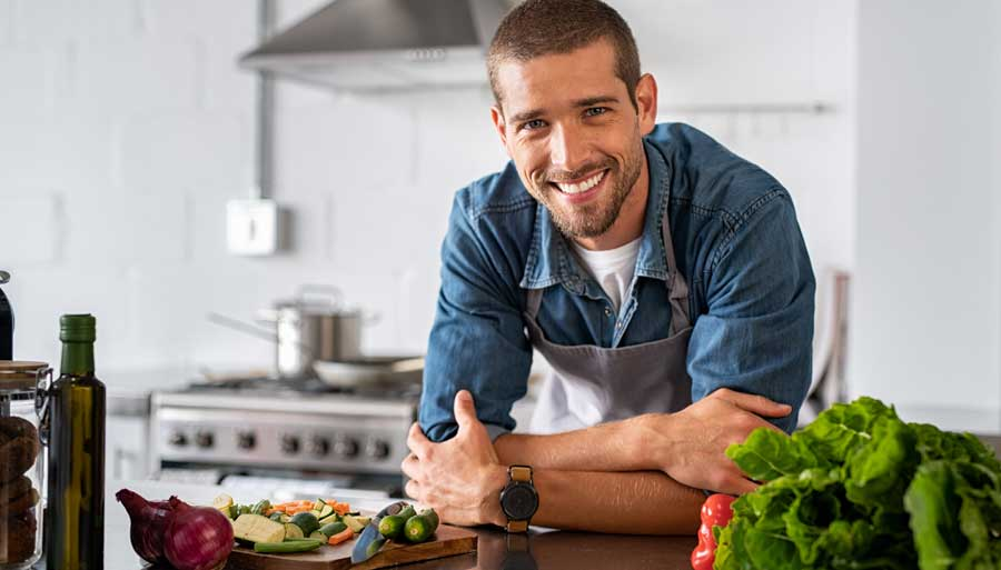 How do I start cooking healthy food?