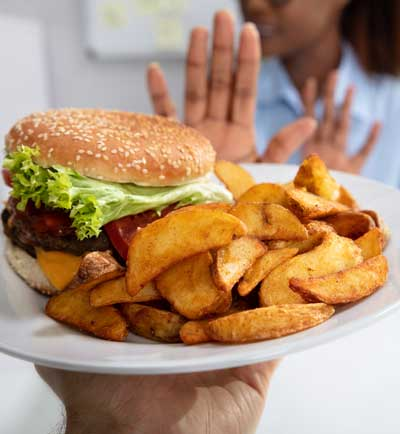 Half of the days calories often come from lunch.